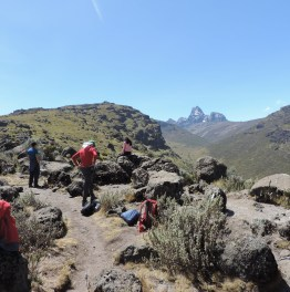 Climb and camp on Mount Kenya