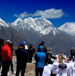 Feast on an Appetizing Breakfast with Everest Helicopter Tour