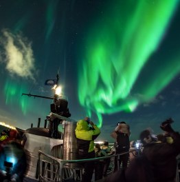 Spot the Northern Lights by an Ocean Cruise