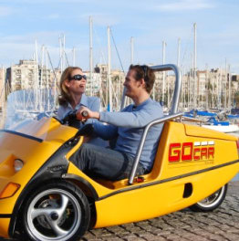 1-hour Barcelona City Highlights GoCar Tour