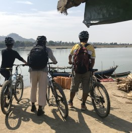 Full-day Chin Villages Biking Tour with Boat Ride from Mrauk U