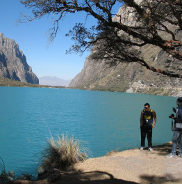 day trip to Llanganuco Lakes in Peruvian Andes