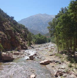See Ourika Valley nestled in Atlas Mountains