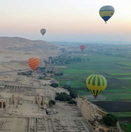 Explore the Historical Highlights of Luxor from a hot air balloon