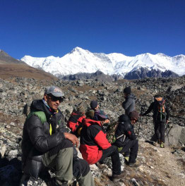 Trekking in the Gokyo Valley