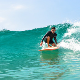7-Hour surfing at Cerritos Beach