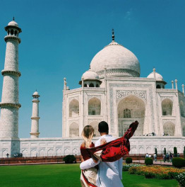 Train Ride to Taj Mahal
