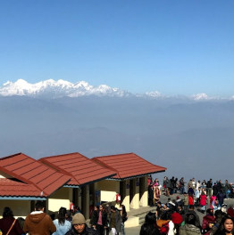 Come for panoramic views atop Chandragiri Hill