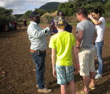 In Maasai village