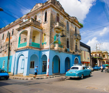 Downtown of the city, famous Neoclassical buildings, Pinar Del Rio, Cuba