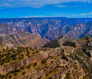 Sierra Madre Occidental in Copper Canyon Mexico