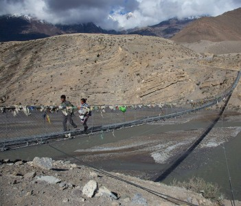 Suspension bridge to Dangarjong and Upper Dolpo