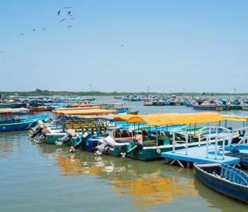 Fishing harbour of Puerto Pizarro Tumbes Peru