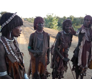 The Hamar tribe, on their way to market