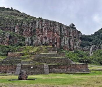 Mexican pyramid in Huapalcalco