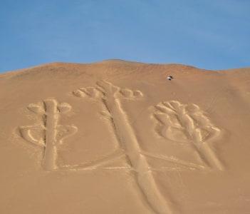 Nazca Candelabrum in Paracas National Park