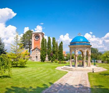 Orthodox Monastery Zica, built in 13th Century, near Kraljevo, Serbia