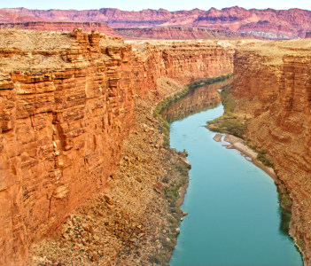 Marble Canyon section of the Colorado River canyon in USA