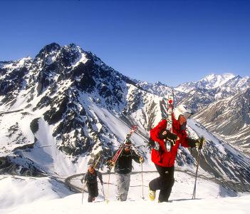 A popular winter sport resort Portillo Chile