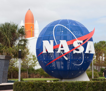NASA display at Kennedy Space Center Visitors Complex in Titusville USA