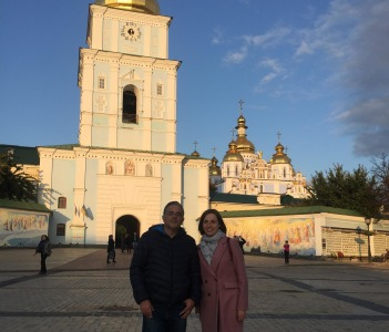 St. Michel Golden-Domed monastery is one of the locations of Euromaidan tour