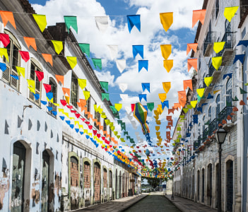 Historic city of Sao Luis Maranhao State, Brazil