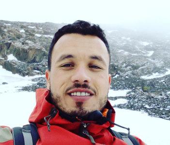 Climbing Toubkal peak