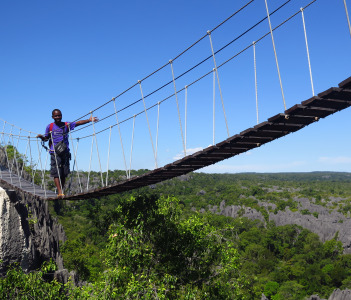The longest trekk and in the National Park of Tsingy Bemaraha