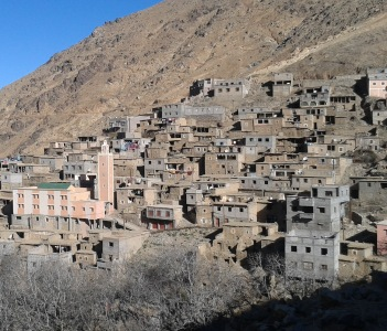 Berber village, Atlas mountains