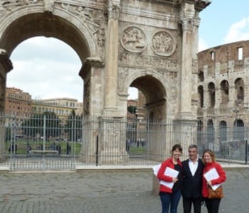 Arch of Constantine with T.S.E. Agency