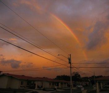 Rainbow over David, Panama