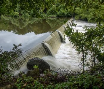 San Gabriel River Waterfall in Georgetown USA