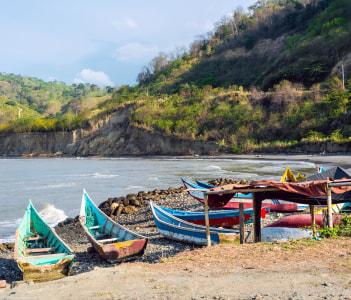 Fishing boats on the northern coast of Ecuador Province of Esmeraldas
