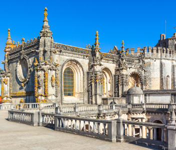 Knights of the Templar (Convents of Christ) castle detail Tomar Portugal