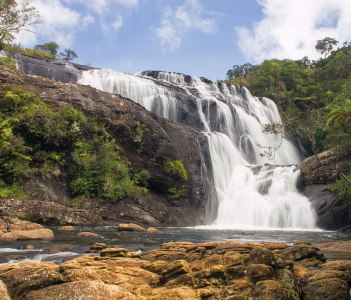 Bakers falls Horton plains national park Sri Lanka