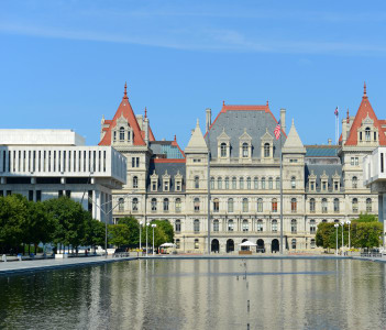 Building was built with Romanesque Revival and Neo-Renaissance style in 1867 in Albany USA