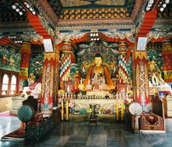 Solemn Air (Bhutan Temple)