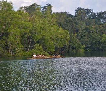 Country boating through Neyyar wildlife sanctuary