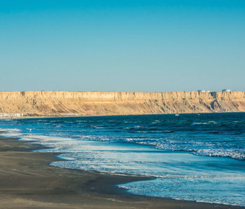Colan beach in the Peruvian Coast at Piura, Peru