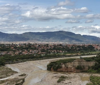 View of the Bolivian city of Tarija from the nearby hills