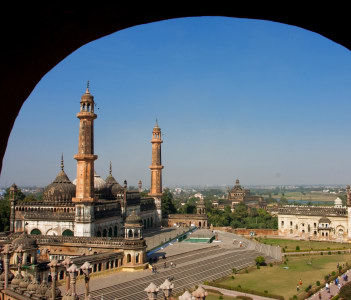 Bara Imambara Mosque and the Ancient Gateway, Lucknow