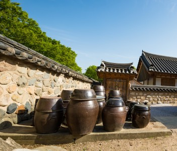 Gyochon Hanok (Korean traditional houses) village in Gyeongju South Korea