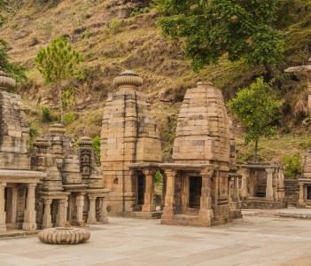 Katarmal Sun Temple near Almora Uttarakhand India