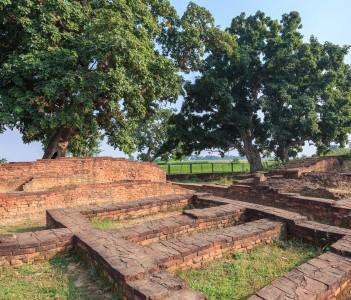 Ancient city gate at Kapilwastu or Buddha hometown in Nepal