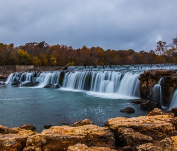 Grand Falls waterfall in Joplin Missouri
