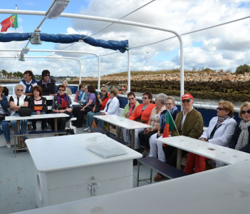 Aboard the boat in Algarve.
