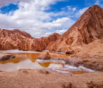 Valle de la muerte landscape in San Pedro de Atacama Chile
