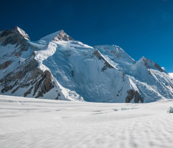 Gasherbrum II seen from the glacier, Jammu and Kashmir, India