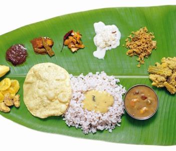 "Kerala's national food "" Sadya."""