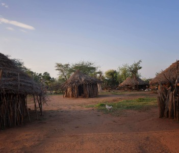 Village Morning, Hamar, Ethiopia